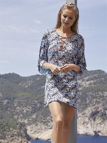 Платье пляжное на шнуровке Ysabel Mora - фото 6254