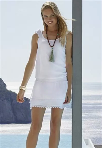 Пляжное белое платье на резинке Ysabel Mora - фото 7229