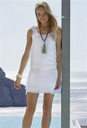 Пляжное белое платье на резинке Ysabel Mora