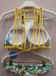 Желтый бразильский купальник 2019 халтер Maryssil