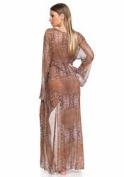 Длинная туника в пол из сетки Larissa Minatto