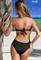Черный слитный купальник бандо с сеткой SHE Tiffany (2) | banador.ru
