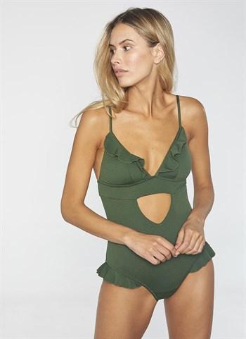 Слитный зеленый купальник Ysabel Mora - фото 10702