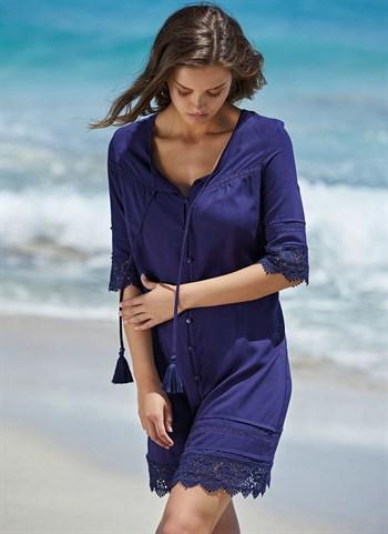 Синее платье-туника Ysabel Mora 2020 - фото 10828