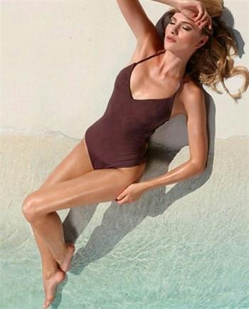 Слитный купальник шоколадного цвета Jolidon F2511U - фото 6376
