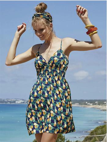 """Пляжный сарафан с принтом """"ананасы"""" Ysabel Mora - фото 7254"""
