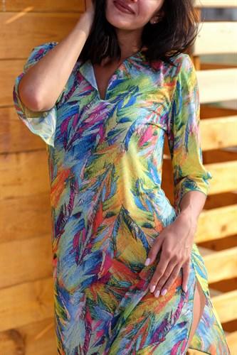 Короткая туника из сетки Royal Glamour - фото 8440