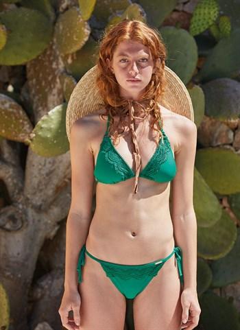 Зелёный купальник бикини 2020 Ysabel Mora - фото 9936
