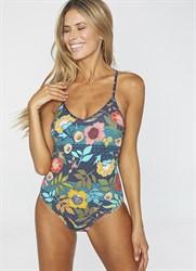 Слитный купальник с цветочным принтом Ysabel Mora 2020