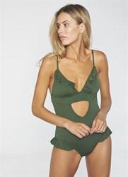 Слитный зеленый купальник Ysabel Mora