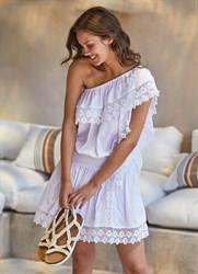 Белое платье на одно плечо Ysabel Mora 2020