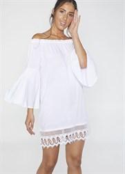 Платье-туника белая Ysabel Mora