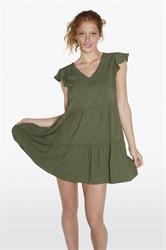 Платье цвета хаки с V вырезом Ysabel Mora 85785-1