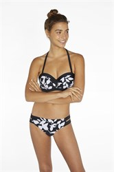 Черно-белый купальник бандо Ysabel Mora 81643-1